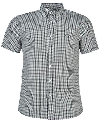 mens-short-sleeve-shirt-check-stripe-plain-xxx-large-black-check