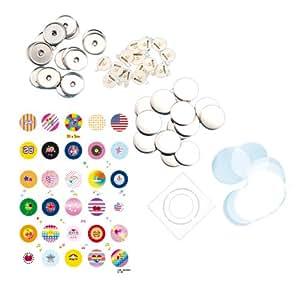 Bandai 08025 - Nachfüllpack für Badge it! Buttonmaker, farblich sortiert, Farbe nicht wählbar