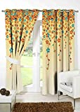 #5: B7 CREATIONS Digital Printed Floral Polyester (Matte) Eyelet Door Curtain 1 Piece - (54x82 Inch / 4.5x7 Feet Approx), Multicolor