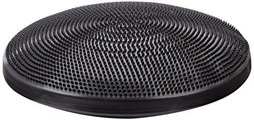 Balancekissen mit Noppenseite, Sitzkissen, aufpumpbar, Cando® Balance Disc, 60 cm Durchmesser, schwarz
