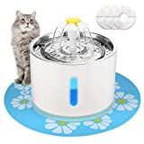 EZVOV Cat Water Fountain Stainless Steel, Intelligent Power Off Cat Water Dispenser