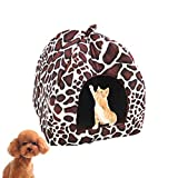 Shuda Indoor Warm Fragola Pet House Lavabile Antiscivolo Pieghevole Pet Nido per Cucciolo Gatto Coniglio Pet (26* 26* 28cm)