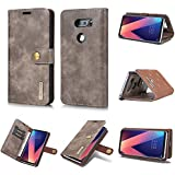 LG V30 LG V30 Plus Holster Case Flip, Codream Cover Suit Premium Vertical Leather Pouch Sleeve Carrying Case Covers With Card Slot Holster For LG V30 LG V30 Plus (Grey)