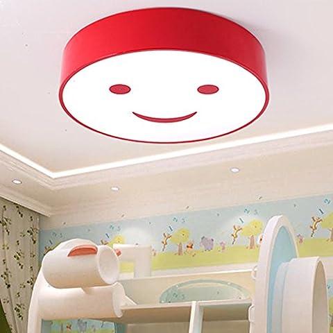 lilamins enfant Chambre Chambre Enfant lumière de plafond lampe de plafond salon circulaire atmosphère personnalité créative Kindergarten lampes de lumière, d40cm- Smiley Face–Orange, non Dimmer pour télécommande