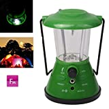 HITSAN ST-1010 Super Bright Lantern Lamp, Multi-Function Light with FM Auto Scan Radio (Green)