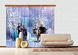 Gardine/Vorhang FCP xxl 6006 Disney Frozen, 280 x 245 cm, 2-teilig