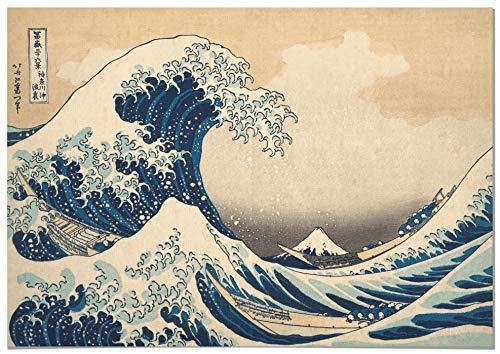 Panorama Póster Hokusai La Gran Ola de Kanagawa...