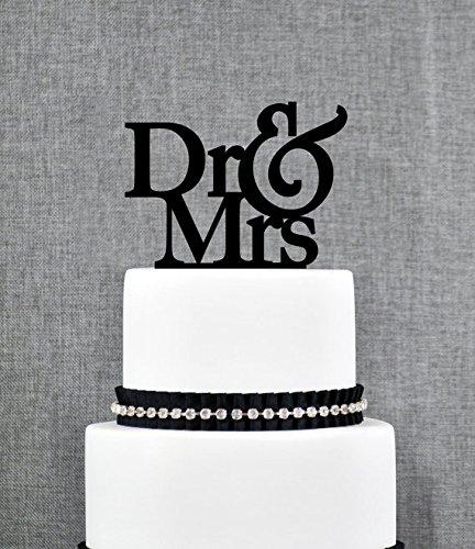 Dr und Frau Hochzeit Tortenaufsatz, Einzigartige Cake Topper, elegantes Tortenaufsatz, Engagement Geschenk, Doctor Hochzeit Geschenk, modernes Tortenaufsatz
