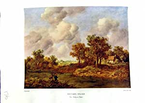 Paysage la Henley-sur-Tamise Richard Hilder de la Peinture À L'huile de Nettlefold Grundy 1935