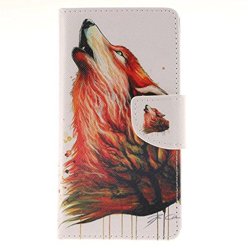 Einziger Folio PU Leder Wallet Case Schutzhülle für Sony Xperia Z3 Handytasche Skin Schale Soft Backcover Handy Tasche Flip Cover Buchstil Flip Case mit lebenslanger Garantie + Kartenfächern & Standfunktion - Baum Wolf