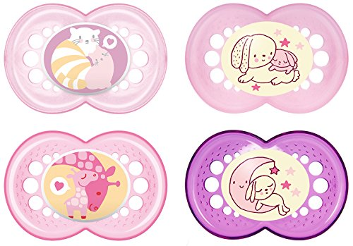 MAM Babyartikel 99970122 Day & Night Schnuller - Set 16plus Girl (sortiert)