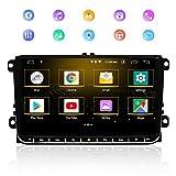 Navigatore GPS per Auto, Navigatore Android 9.0 9 pollici per auto per VW, Lettore Multimediale Touch Screen Capacitivo Radio Bluetooth, RAM 2GB ROM 32GB Supporta la funzione DSP WIFI