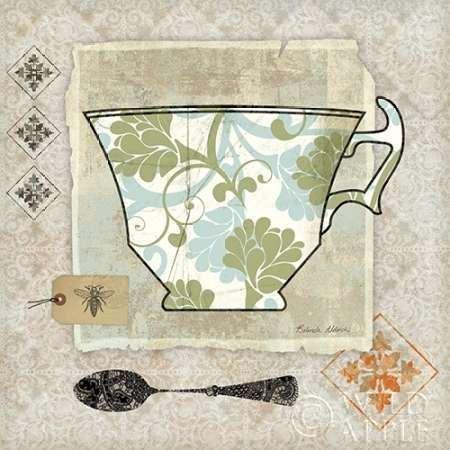 Impresión de Arte Fino en lienzo : Garden Cafe II by Aldrich, Belinda - pequeña (30 x 30 Cms)