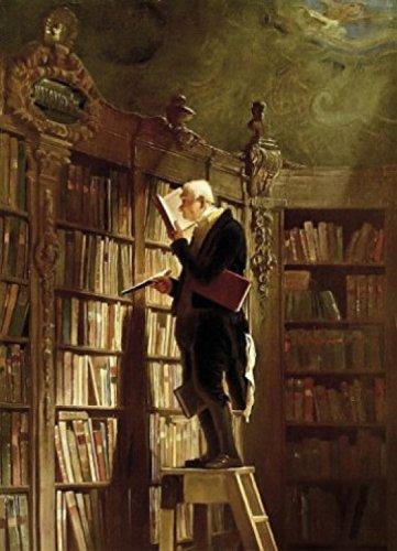 1art1 73522 Carl Spitzweg - Der Bücherwurm, 1850, 2-Teilig Fototapete Poster-Tapete 250 x 180 cm