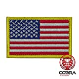 Cobra Tactical Solutions Flagge USA United States Patch Bestickt Militar Patch mit Klettverschluss für Airsoft/Paintball für Taktische Rucksack Kleidung.