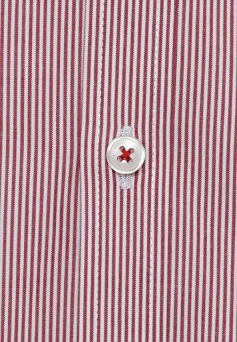 Pure Herren Businesshemd Streifen Rot