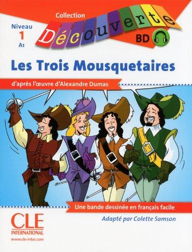 BD Les trois Mousquetaires - Niveau 1-A1 - Lecture Découverte - Livre + CD