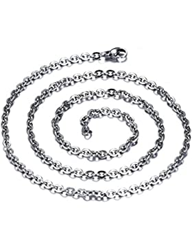Epinki Paare Halskette, Edelstahl Silberkette Charme Kette Statementkette Panzerkette