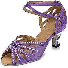 JSHOE Women's Sexy Latin Dance Shoes Salsa/Tango/Chacha/Samba/Modern/Jazz Shoes Sandals High Heels