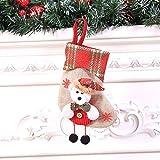 LHWY Weihnachtsstrümpfe Anhänger Weihnachtssocke Mini Socke Weihnachtsmann Süßigkeiten Geschenk Tasche Weihnachtsbaum Hängen Dekor (D)