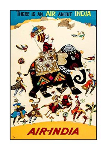 Air India, A3-Poster, Vintage, Foto, Old Airways, Airways-Foto, Grafikbild, Bild, Airline, Reisen, Schwarz und Weiß, Foto, Old, Retro, Druck, Oldschool