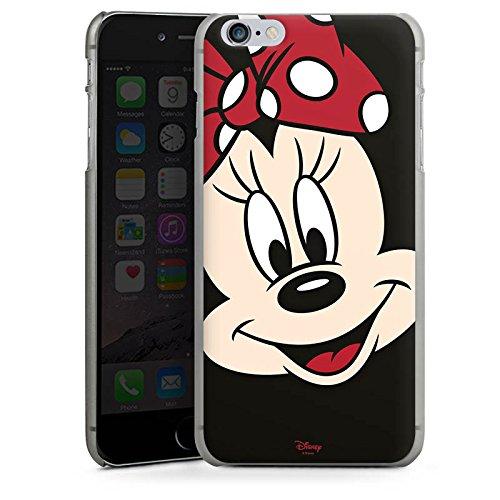 Apple iPhone 6 Plus Tasche Hülle Flip Case Disney Minnie Mouse Geschenk Merchandise Hard Case anthrazit-klar
