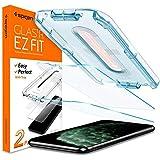 "Spigen, 2 Packs, iPhone 11 Pro Max Tempered Glass Screen Protector, iPhone Xs Max Screen Protector (6.5""), EZ FIT, Installation Kit, iPhone 11 Pro Max Screen Guard Tempered Glass, iPhone Xs Max"
