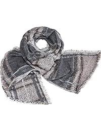 caripe übergroßer XXL Damen Schal warm Winterschal Deckenschal meliert Karo - ni7