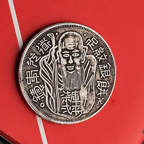 China, Taoismus, Mythologie, Taishang Laojun, viel Glück, antike, Gedenkmünzen, Sammlung, Exquisite, hohe Qualität