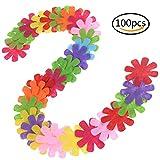 Ruiyele Filz-Blumen, Stoff-Verzierung, gemischte Farben, für Bastel- und Handarbeiten, 100 Stück