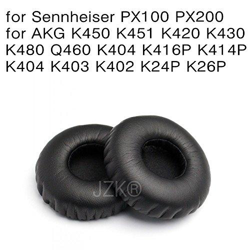 Preisvergleich Produktbild JZK® Leder Schaum Kopfhörer Ersatz-Ohrpolster Ohrpolster Pads für Sennheiser PX100 PX200 & AKG Serie - K450 K451 K420 K430 K480 Q460 (Sennheiser PX100)