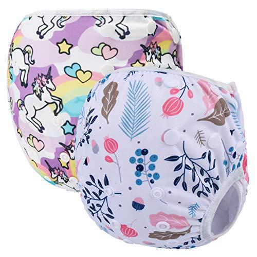 Storeofbaby Maillots de bain imperméables réutilisables de couches de bébé pour des filles et des garçons