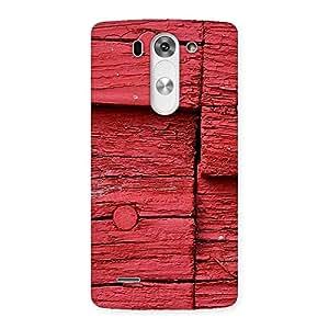 Red Kil Wood Back Case Cover for LG G3 Mini