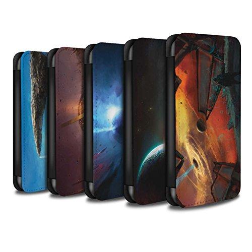Offiziell Chris Cold PU-Leder Hülle/Case/Tasche/Cover für Apple iPhone SE / Phönix/Raumzeit Muster / Galaktische Welt Kollektion Pack 6pcs