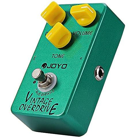 INLIFE Accordeur Chromatique Pédale d'effet de guitare Vintage Overdrive avec