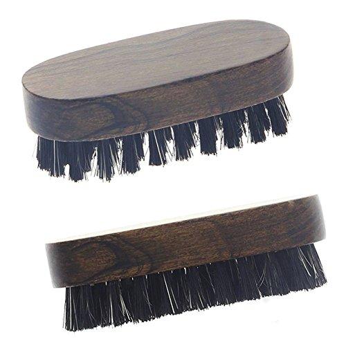 Herren Bartbürste aus Holz, 6.5cm mit Mischborste. Handlich, für zu Hause und unterwegs.