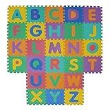 VeloVendo - Tappeto Puzzle con Certificato CE e Certificazione TÜV in soffice Schiuma EVA | Tappeto da Gioco per Bambini | Tappetino Puzzle (Lettere)