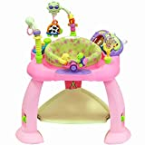 #1: Baby Bucket Baby Jump and Play Activity Centre Baby Toys Multifunctional Baby Bounce Chair with Light and Electronic Organ (Red)