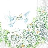Ihr, Serviette - Romantic Doves
