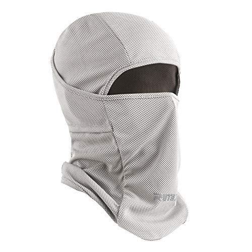 Botack Balaclava Sturmhaube UV-Schutz Maske Winddicht Atmungsaktiv Vollmaske Einstellbar Radfahren Wandern Maske für Herren Damen (Eis Angeln Handtuch)
