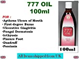 777 Oil 100ml For Apthous Ulcers of Mouth First-degree Burns Ulcerative Gingivitis Fungal Dermatosis Icthyosis Fissure Foot Dandruff Psoriasis