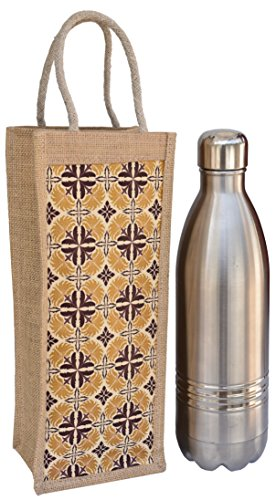 Planet Trendy Jute Type Water Bottle Cover - Bottle Container...