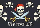 Edition Colibri Lot de 10 Cartes d'Invitation Pirates en Français pour Un Anniversaire d'Enfant, Une Chasse au trésor ou pour Une fête des Pirates des (10966 FR)...