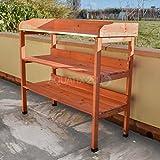 3 Tier Wooden Outdoor Garden Potting Bench
