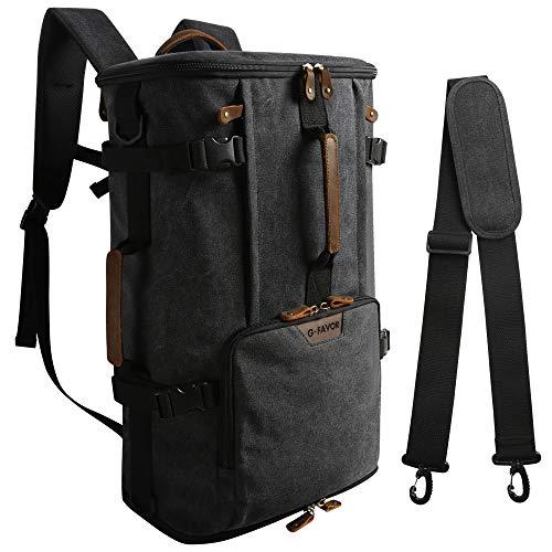 G-FAVOR Vintage Herren Rucksack Wanderrucksack Reiserucksack Trekkingrucksack Laptop Rucksack 17, 3 Zoll Daypack 40 Liter Multifunktionale Tasche für Reise Camping Wandern Ausflug Outdoor Gym