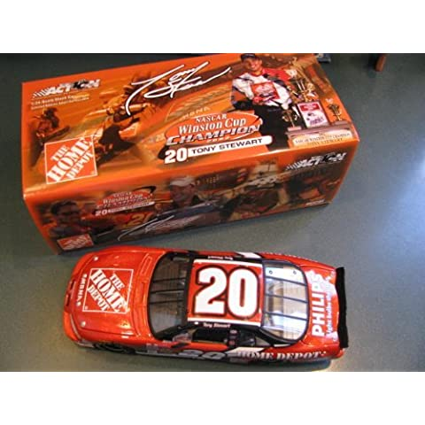 2002 Metalflake Winston Cup Champion Championship Edition Tony Stewart #20 Home Depot 1/24 Hood Opens Trunk Opens HOTO 2002 Action Racing Collectables ARC Limited Edition by Action Racing