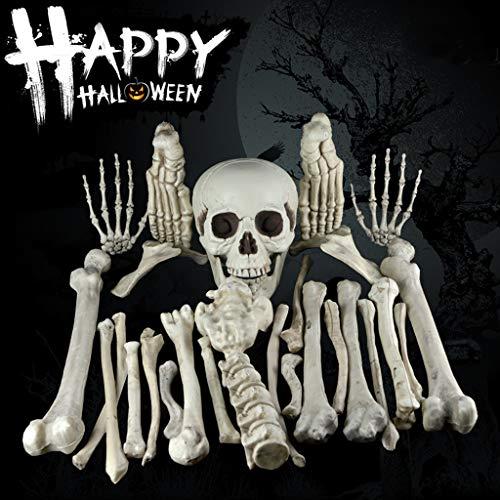 Kostüm Ballon Menschliche - bloatboy Halloween  Harz Horror Menschliches Schädel Skelett Anatomisch Anzug, Horror Halloween Dekorationen Stützen Atmosphere Scene Decoration (Weiß)