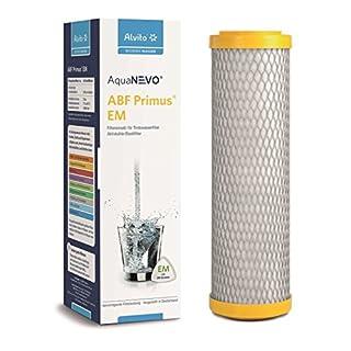 Alvito Primus EM Aktivkohle Blockfilter / Aktivkohle-Monoblock / Filtereinsatz mit EM-Keramik