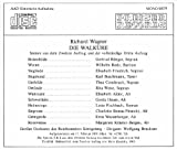Wagner : Walküre 1938. Brückner, Rünger, Rode, Friedrich, Buschmann.