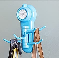 PHDstore 6 Hook Hanger Suction Cup for Bathroom Key Towel Scrubber Holder-1Pc